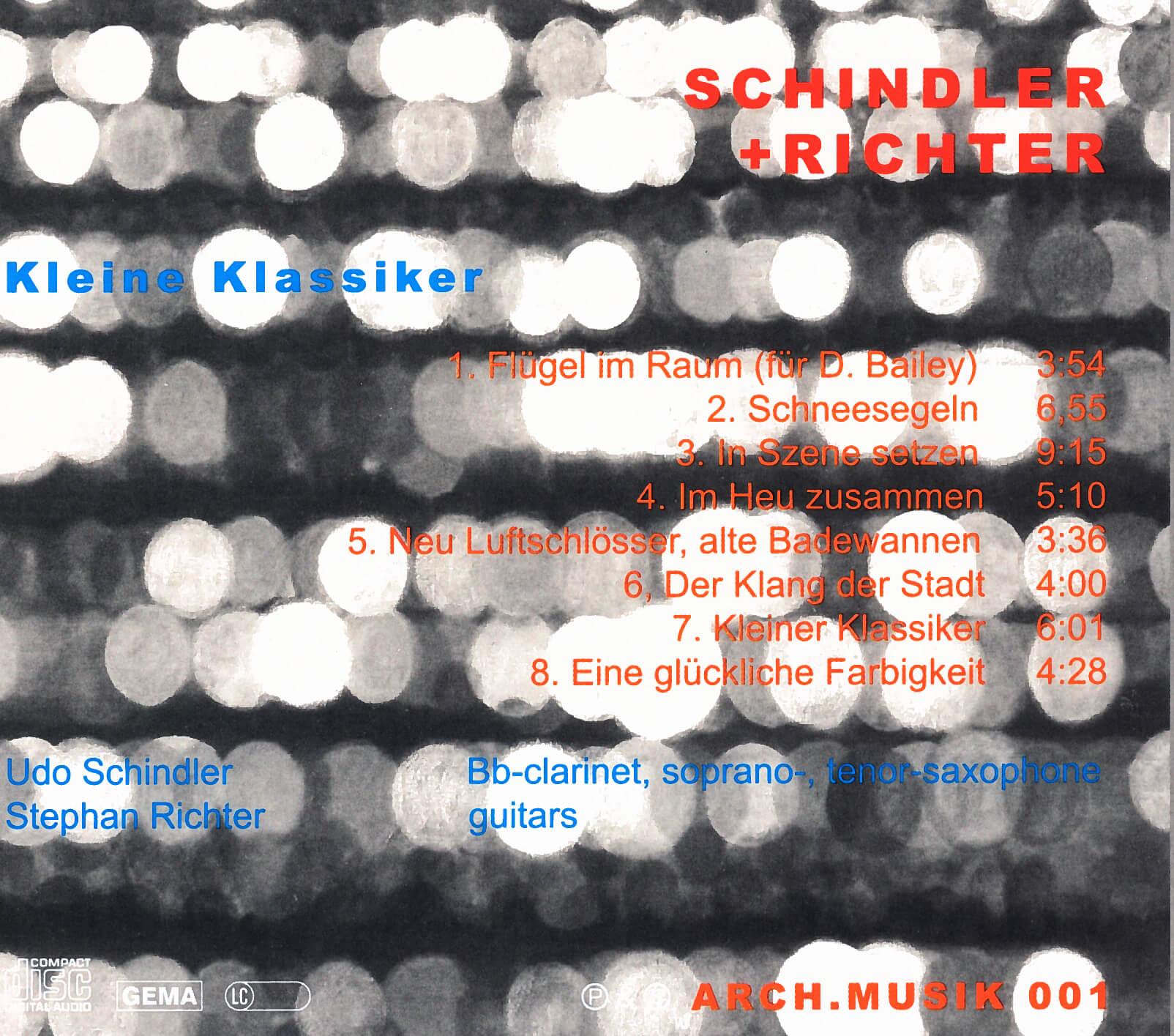 schindler+richter – kleine klassiker